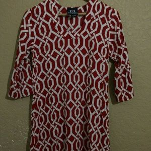 Escapada Womens XS Red Dress 3/4 Sleeve